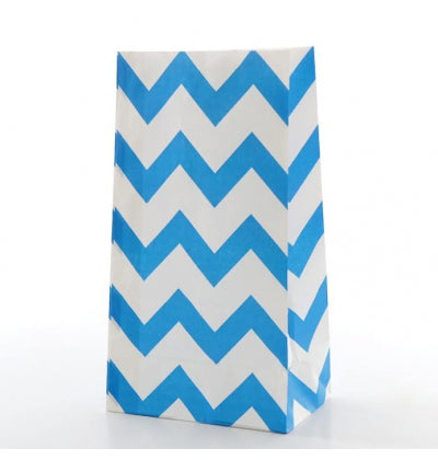 Royal Blue Chevron Treat Bags - Must Love Party