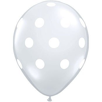 Clear with White Dots Balloons (3) - Must Love Party