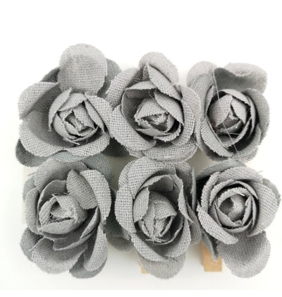 Cotton Flower Grey Pegs