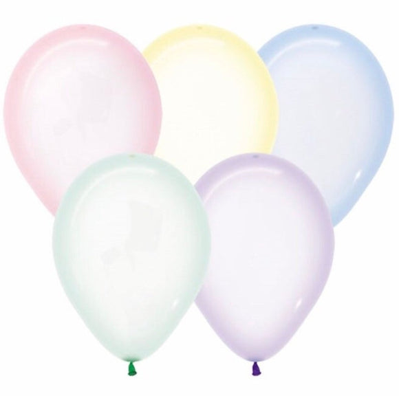 Mini Assorted Crystal Pastel Balloons - Must Love Party