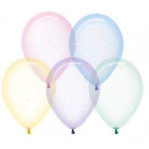 Assorted Crystal Pastel Balloons