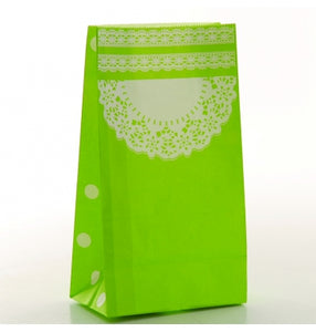 Green Doilie Treat Bags - Must Love Party