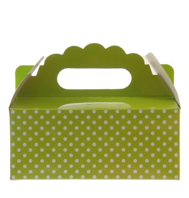 Party Boxes - Dotted Lime Green - Must Love Party