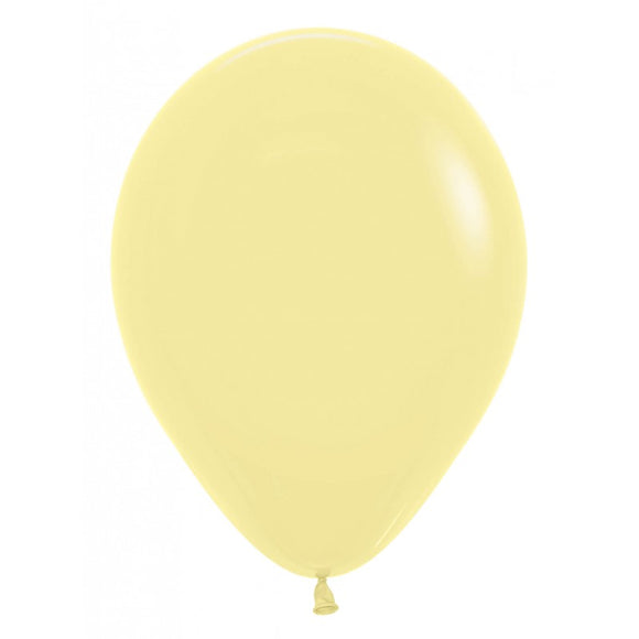 Mini Fashion Pastel Yellow Balloons - Must Love Party