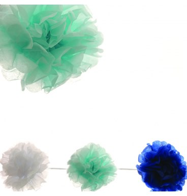 Pom Pom Garland - Blue - Must Love Party