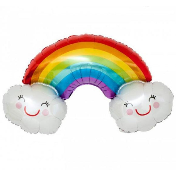 Rainbow with Clouds Foil Balloon - Must Love Party