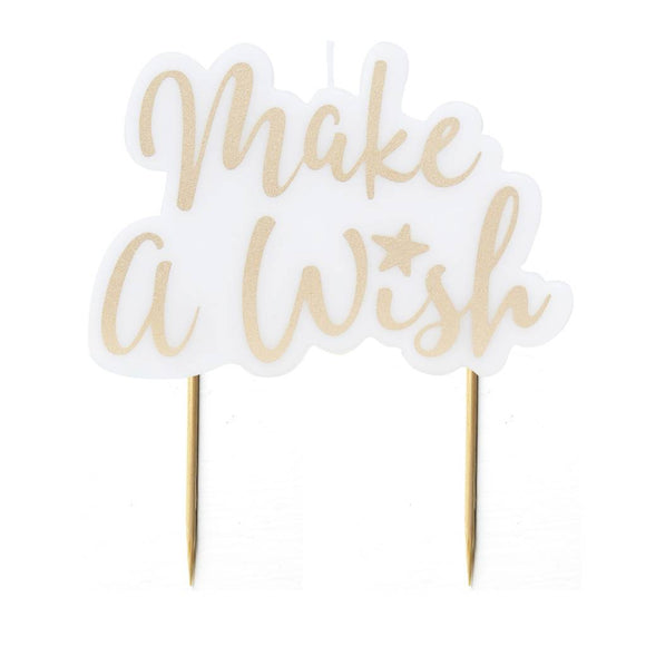 Make A Wish Gold Glitter Candle