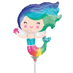 Mini Happy Mermaid Balloon - Must Love Party