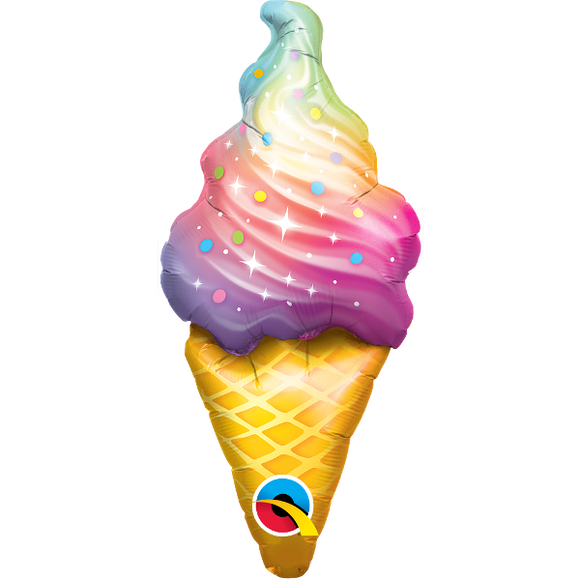 Mini Rainbow Ice Cream Swirl Balloon - Must Love Party