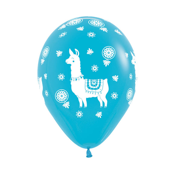Caribbean Blue Llama Balloons (3) - Must Love Party