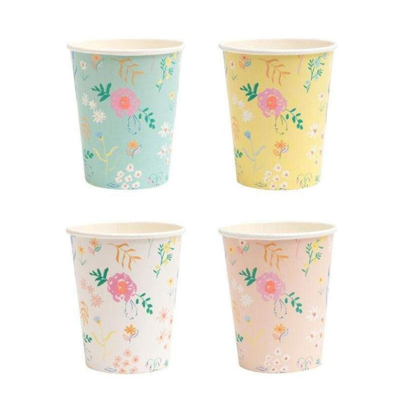 Wildflower Pastel Cups - Must Love Party
