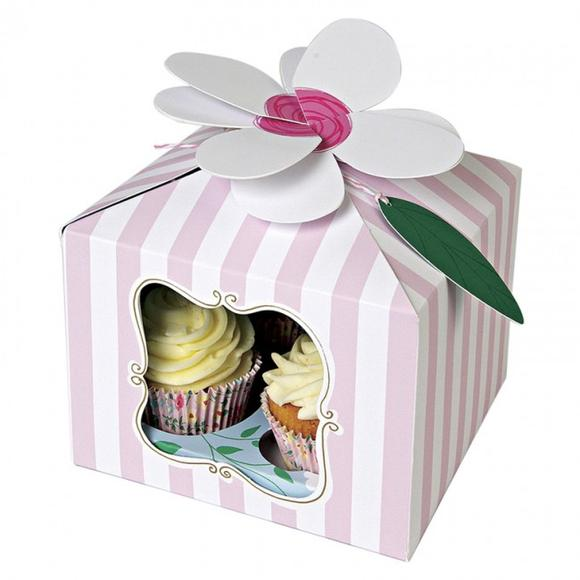 Large Flower Cupcake Box