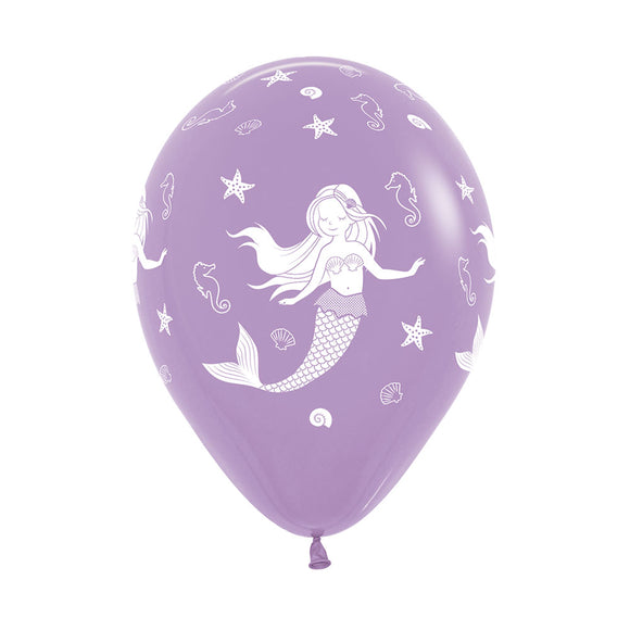 Lilac Mermaid Balloons (3) - Must Love Party