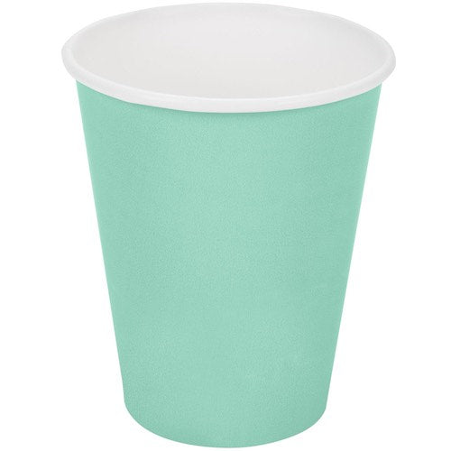Plain Fresh Mint Paper Cups (8) - Must Love Party