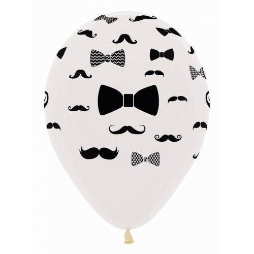 All Over Moustache and Bow Tie Balloons (3) - Must Love Party