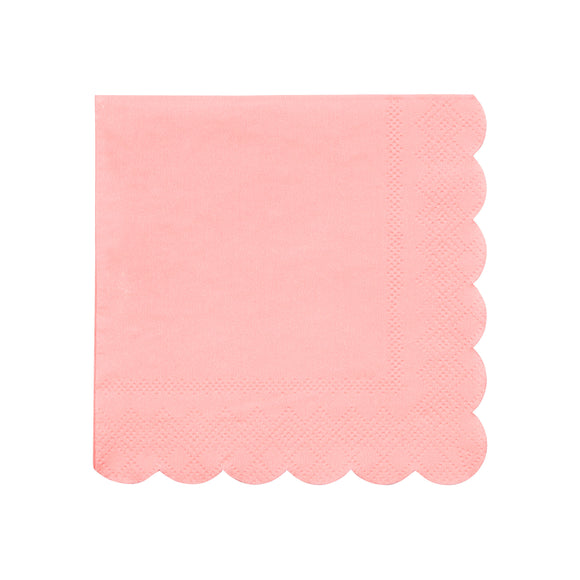 Neon Coral Small Napkins - Must Love Party