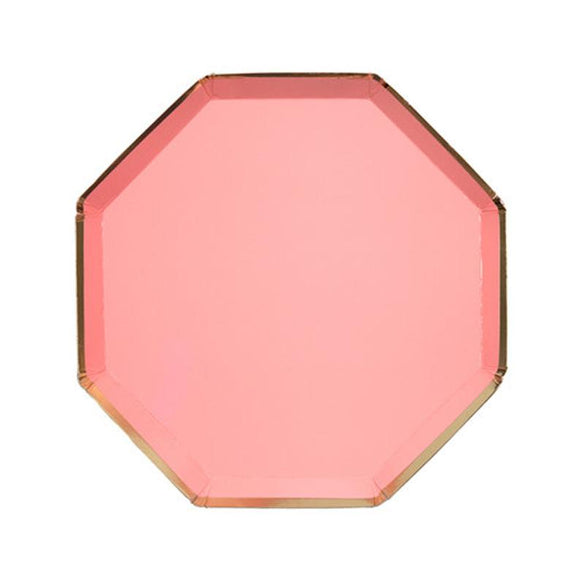 Neon Coral Side Plates - Must Love Party