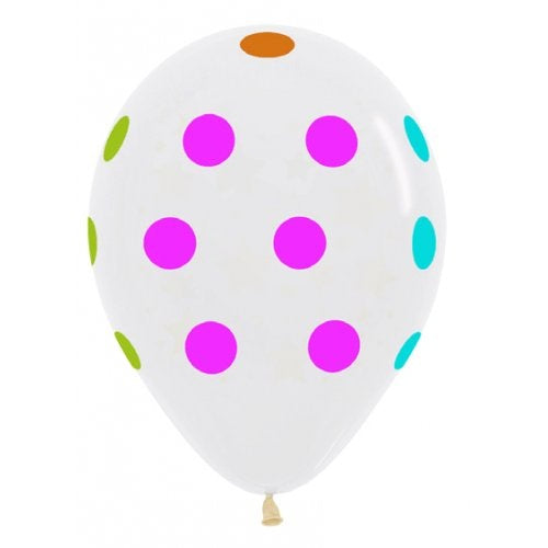 Polka Neon on Clear Balloons (3) - Must Love Party