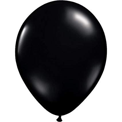 Balloons - Fashion solid Black - Must Love Party
