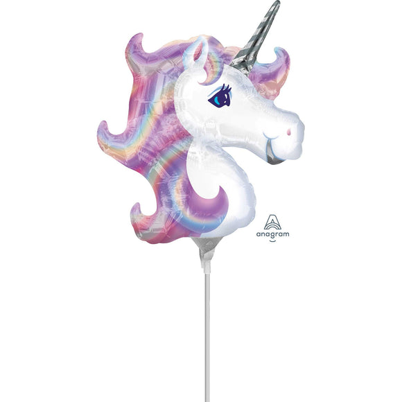 Mini Pastel Unicorn Foil Balloon