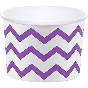 Chevron Amethyst Treat Cups - Must Love Party