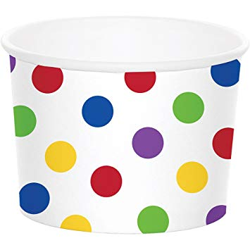 Multicoloured Dot Treat Cups - Must Love Party