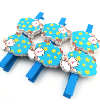 Pretty Blue Sheep Pegs