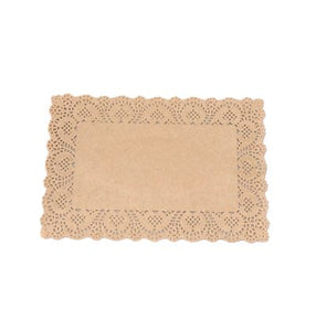 Natural Rectangle Doilies - SELECT YOUR SIZE - Must Love Party