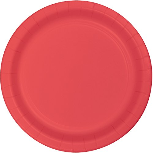 Plain Classic Red Paper Plates - Must Love Party