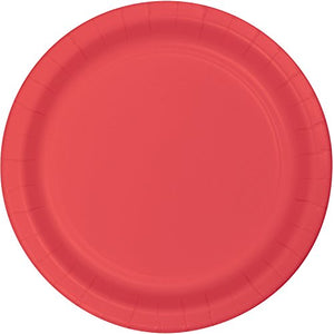 Small Plain Classic Red Plates