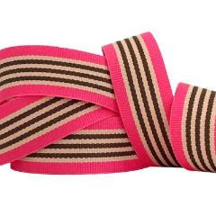 Cerise Pink and Brown Ribbon - Must Love Party