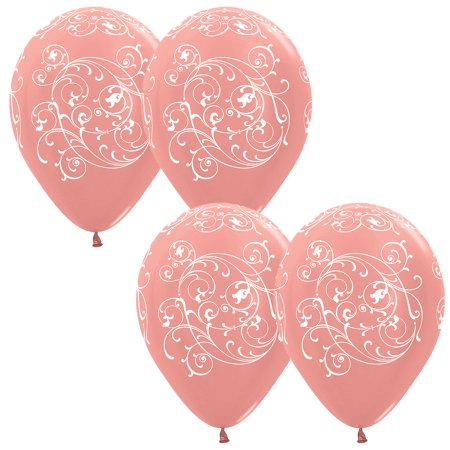 Balloons - Rose Gold Filigree - Must Love Party