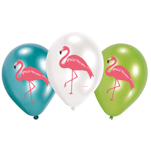 Assorted Flamingo Balloons (6) - Must Love Party