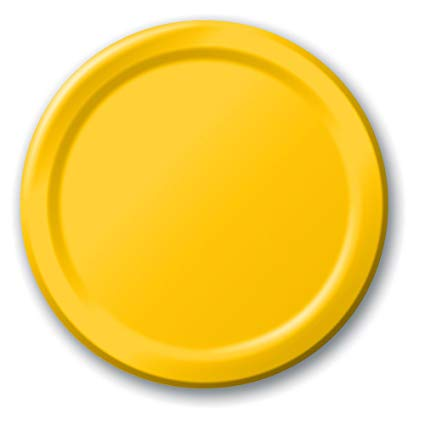 Plain School Bus Yellow Paper Plates