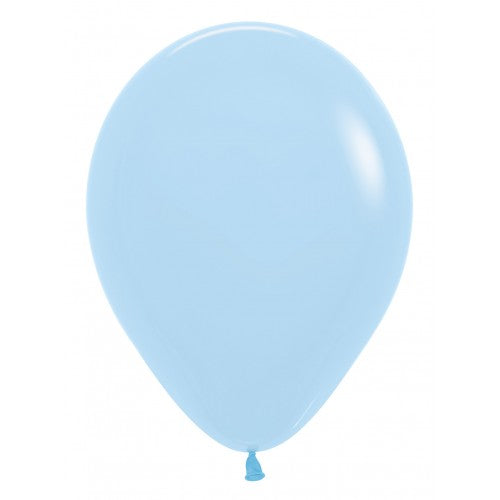Matte Pastel Blue Balloons - Must Love Party