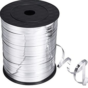 Metallic Silver Balloon Ribbon (SELECT HOW MANY METRES) - Must Love Party