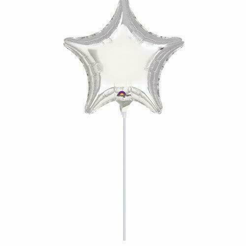 Mini Silver Star Foil Balloon