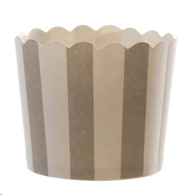 Striped Cupcake Holders - Grey - Must Love Party