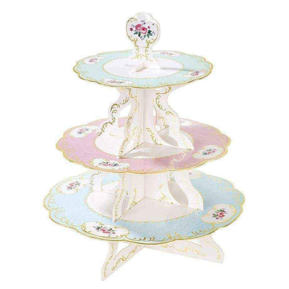 Truly Chintz Gold Foil Reversible Cake Stand