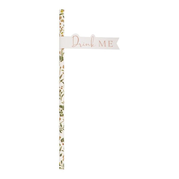 Floral Paper Straws - Must Love Party