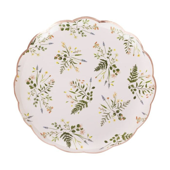 Floral Paper Plates - Must Love Party