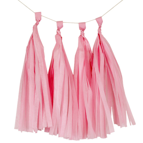 Carnation Pink Tassels (12pcs) - Must Love Party
