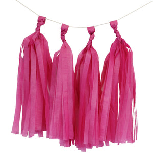 Fuchsia Tassels (12pcs) - Must Love Party