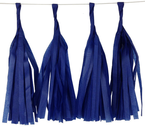 Dark Royal Blue Tassels (12pcs) - Must Love Party