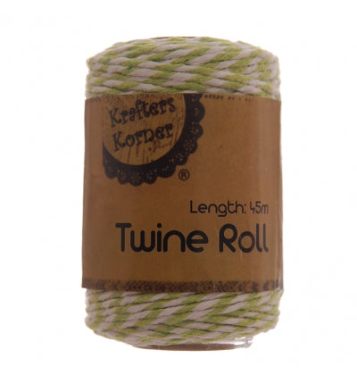 Lime Green and White Bakers Twine - Must Love Party