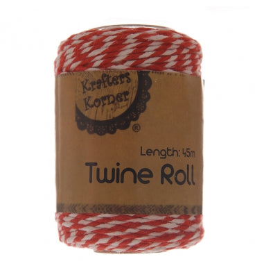 Red and White Bakers Twine - Must Love Party