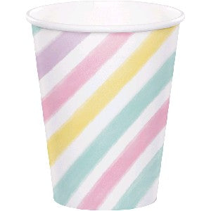Pastel Striped Cups - Must Love Party