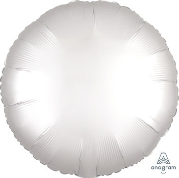Satin Luxe White Circle - Must Love Party