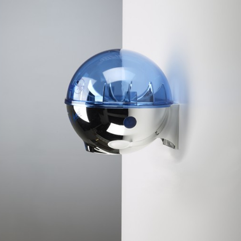 32oz Dispenser w/ Wall Mount Chrome/Blue