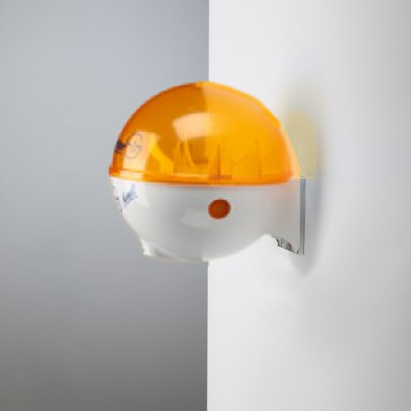 32oz Dispenser w/ Wall Mount White/Orange